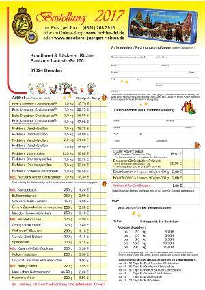 Stollen-Bestellformular 2017 - Vorschau